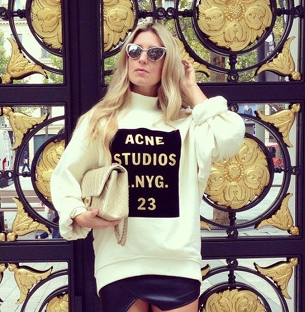 beige sweater letters print long sleeves pullover women winter sweater cotton warm sweater casual