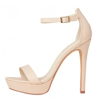 shoes nude stone stilettos sandals heels ankle strap creme cream thin heel high heels