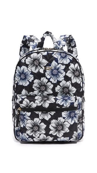backpack printed backpack black bag