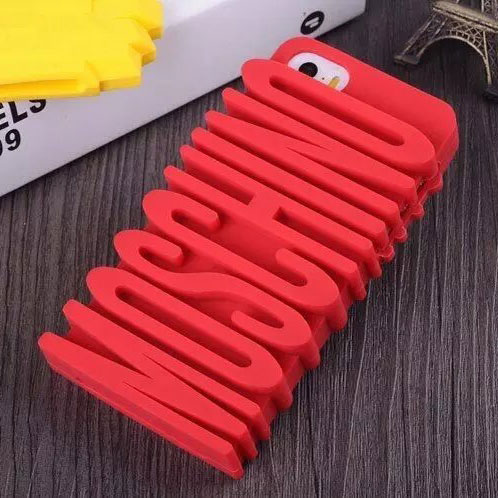 Moschino Silicone iPhone 5/5S Case Letters Red