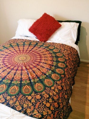Hippie Mandala Duvet Cover Set with 2 Pillow Covers