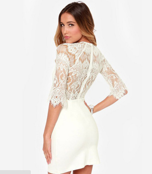Hot lace sexy show body dress