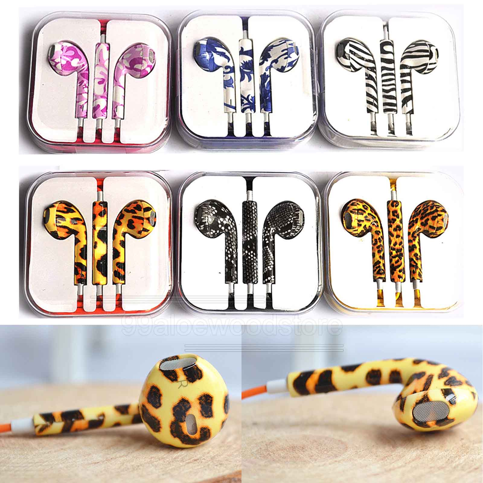 Colorful Headphone Headset Earphone Volume Remote Mic For iPhone4 5 iPad3 4 ipod