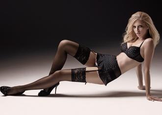 underwear black lingerie diamonds suspenders skirt with suspenders