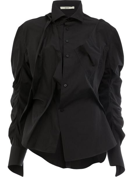shirt women cotton black top