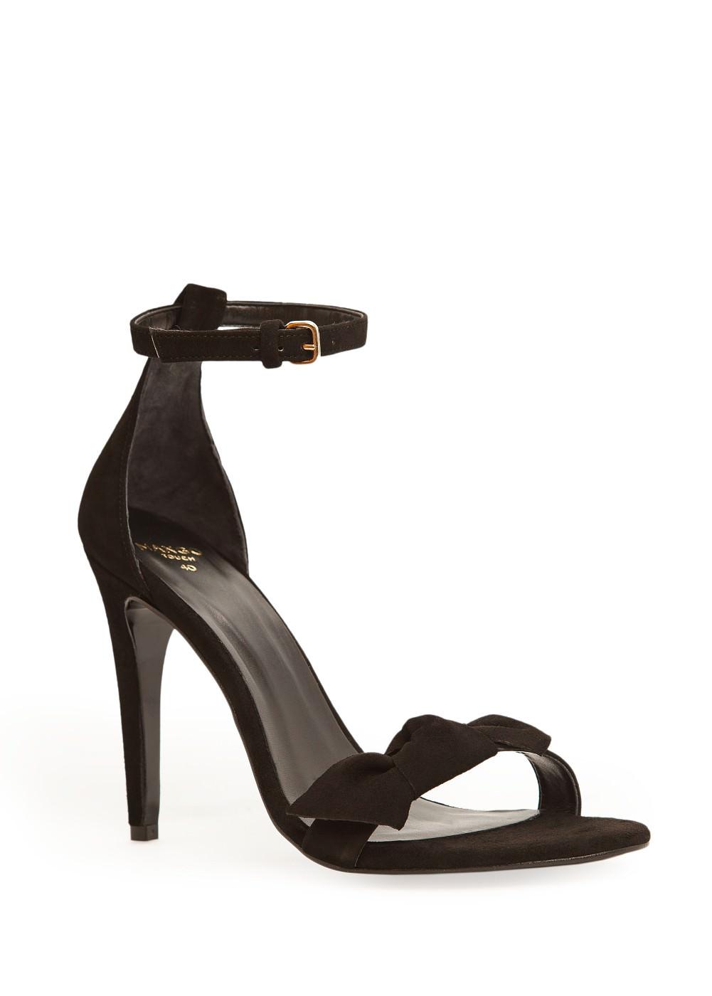 Bow suede sandals -  Shoes - Women - MANGO