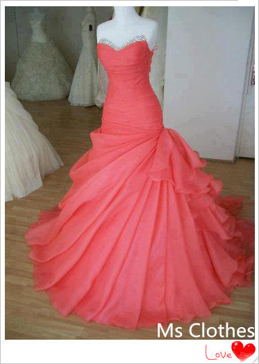 Cheap ball gown sweetheart prom dress evening dress by msclothes