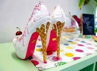 shoes ice cream art cherry