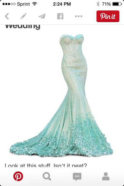 dress blue mermaid prom dress