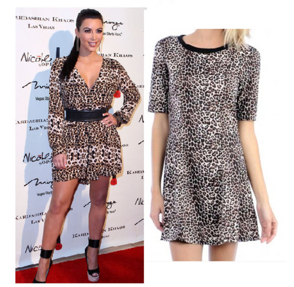 leopard print animal print animal print short dress cheetah dress party dress kim kardashian