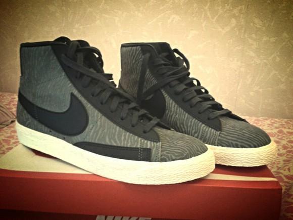 shoes noir gris basket sportswear nike blazers asos