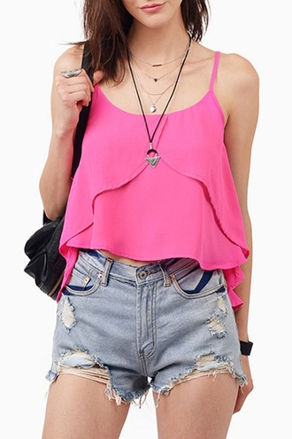top rose pink pink top crop tops denim denim shorts back to school backpack outfit cute zaful dope hippie