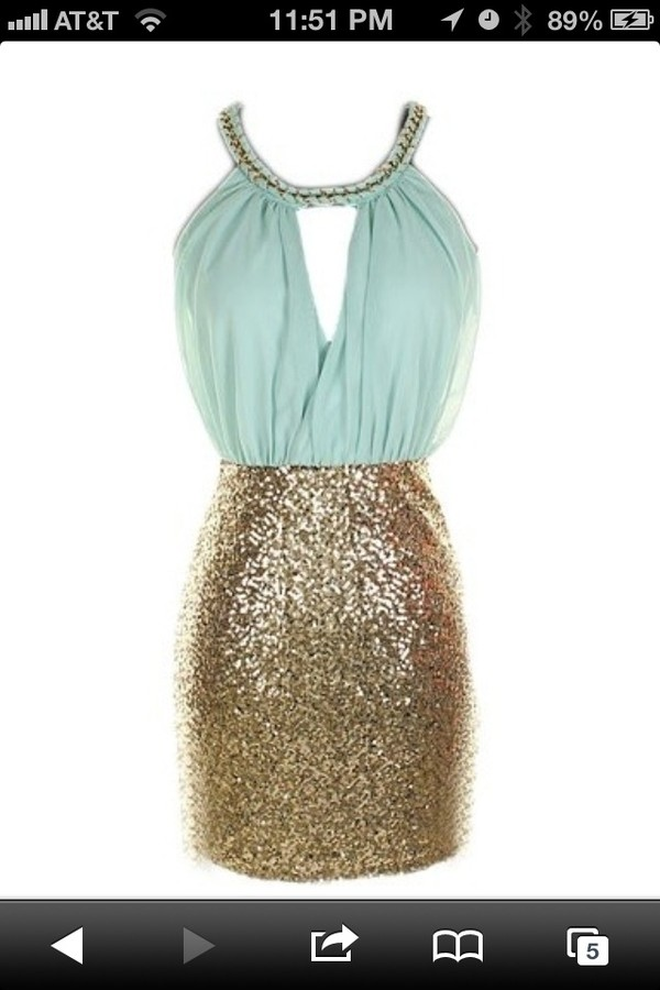 dress mint sequins