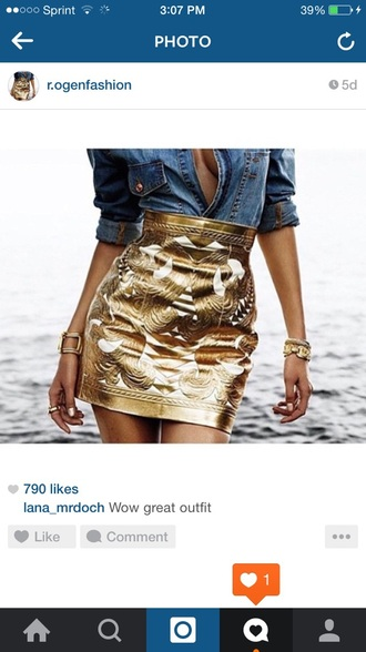 skirt gold white metallic mini skirt t gold metallic skirt