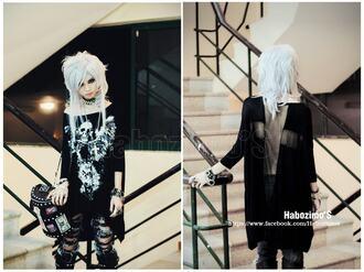 shirt goth gothic lolita gothic black dress punk black cross white
