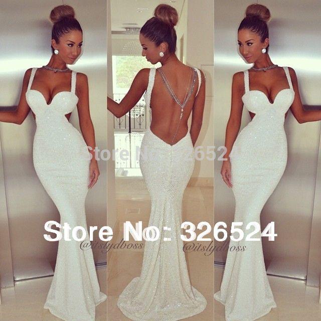 Aliexpress.com : Buy 2014 cintas do tanque vestido de noite quente e querida sereia sexy backless vestido sexy prom 20140224 from Reliable vestidos vestido suppliers on Dress Just For You.