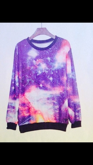 galaxy galaxy print print sweater pullover galaxy sweater