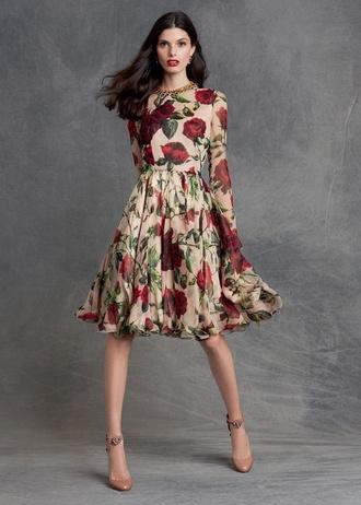 dress roses midi dress