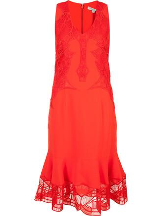 dress sheer women spandex red
