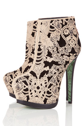**Lace Wing Ankle Boots by CJG - Sale  - Sale & Offers  - Topshop