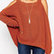 Dark orange cold shoulder sweater