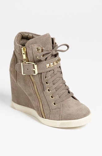 shoes gold zipper buckles brown soft gold gold spike zip high heels pumps sneakers lace brown gray strap buckle
