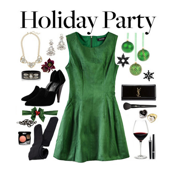 dress green dress christmas dress