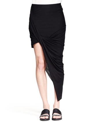 Helmut Lang Kinetic Asymmetric Wrap Skirt