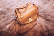 bag,miumiubags,tan leather bag,vintage bag