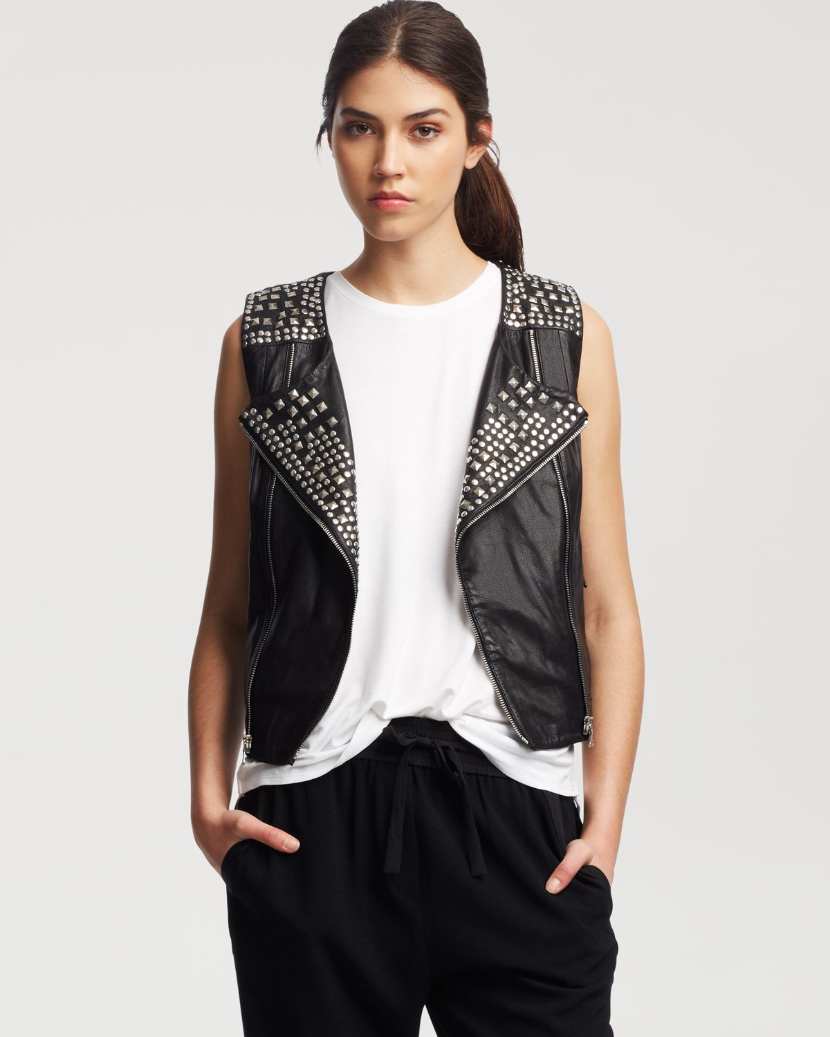 Kenneth Cole New York Harley Studded Vest | Bloomingdale's