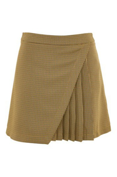 Topshop skirt mustard