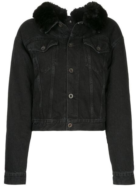 Unravel Project jacket denim jacket denim fur women cotton black