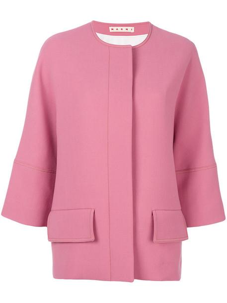 MARNI jacket women wool purple pink