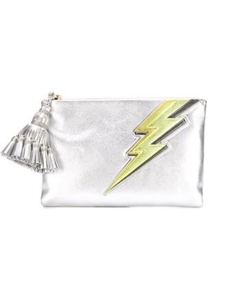 tassel clutch metallic bag
