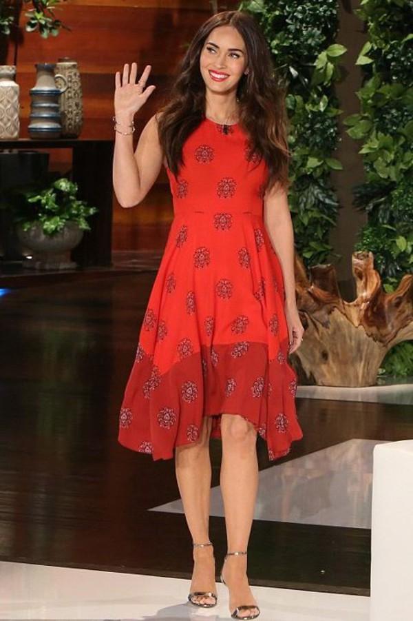 Megan Fox 2010 Red Dress dress, asymmetrical dr...