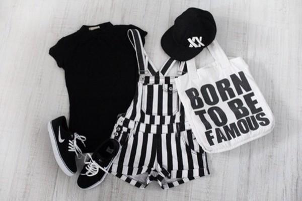 hat t-shirt dress bag shoes