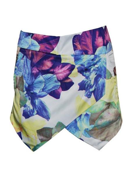 Floral layered skort