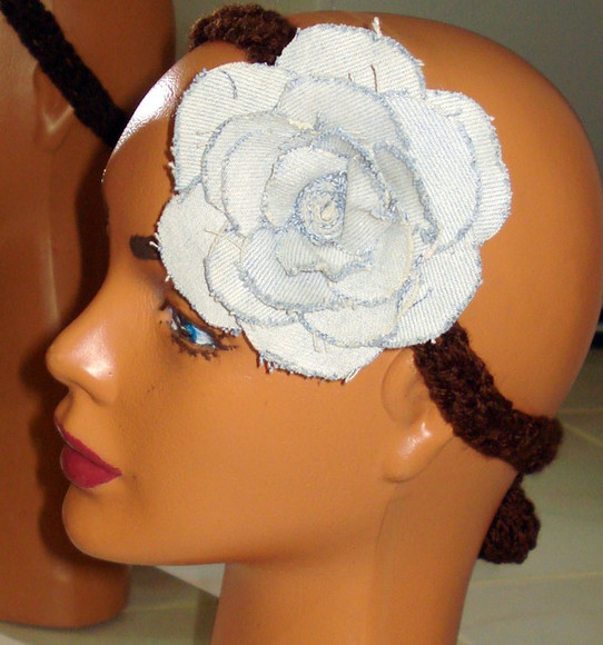 jeans women headband blue headband