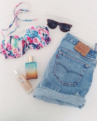 swimwear colorful shorts blue demon blue shorts levis shorts 501