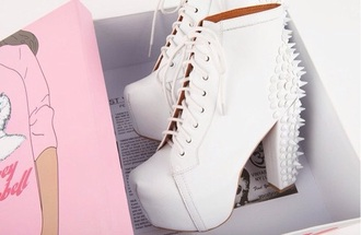 shoes platform lace up boots jeffrey campbell white shoes