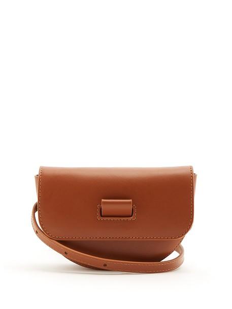 Wandler belt bag bag leather tan