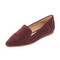 Blank canvas suede pointed toe flats - syrah