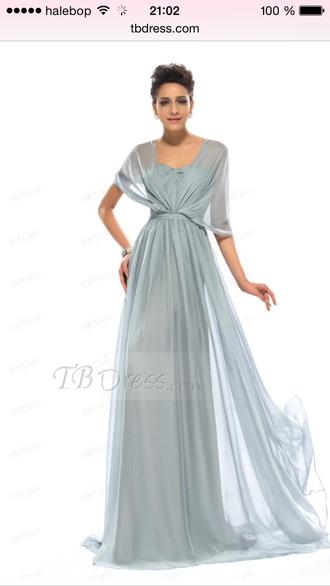 dress tbdress grey dress gown long