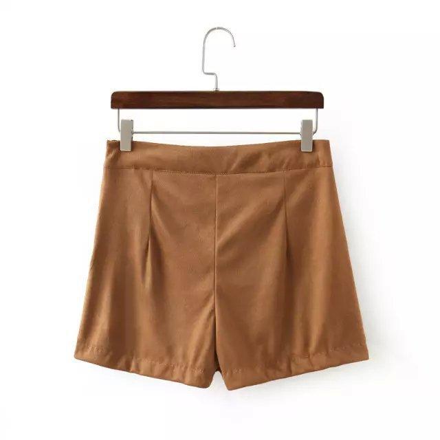 com : Buy 2015 ZA Women Fashion High Waist Brown Side split zipper ...