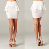 skirt,pristine,white,makeup table,vanity row,dress to kill,chic,peplum,mini,party