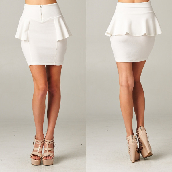 skirt pristine white makeup table vanity row dress to kill chic peplum mini party
