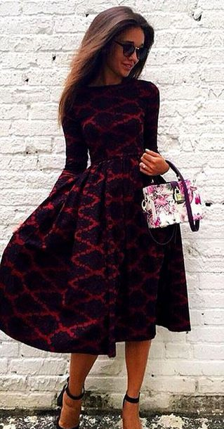 Long Sleeve Winter Dresses