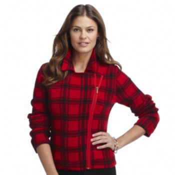 Plaid Sweater Jacket - Petite