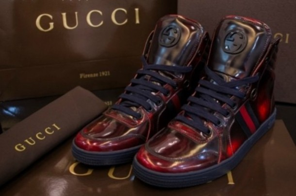 Gucci Red sneakers shoes gucci sneakers red