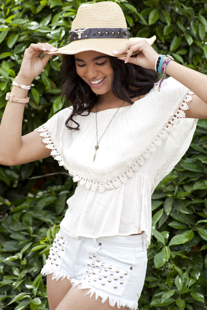Boho Lace Peasant Blouse | Obsezz